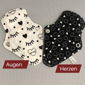 Produktbild Tangaeinlagen Motiv Augen und Herzen