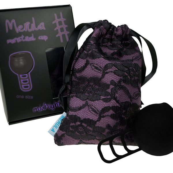 Merula Midnight schwarz Ladyways Menstruationstasse