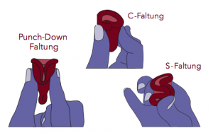 Drei Falttechniken für Menstruationstassen